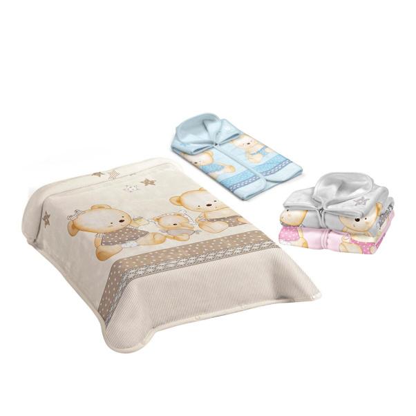 Bunny bebe βρεφική κουβέρτα βελουτέ υπνόσακος 80×90 Belpla Ster 663