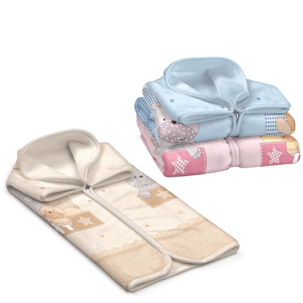 Bunny bebe βρεφική κουβέρτα βελουτέ υπνόσακος 80×90 Belpla Ster 664