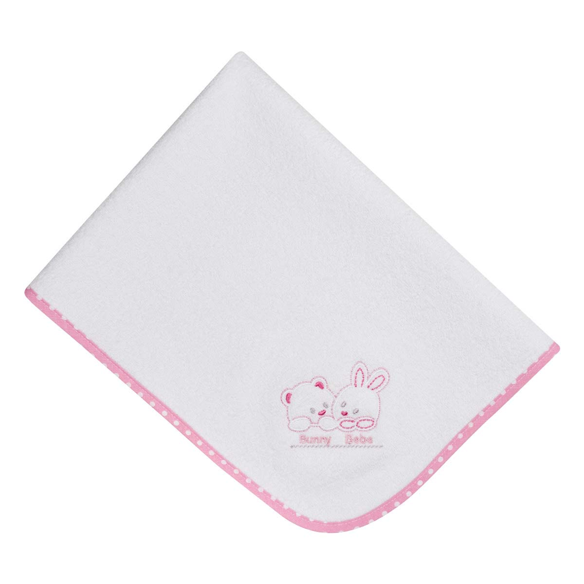 Bunny bebe σελτεδάκι 45×65 αρκουδάκια ροζ πουά