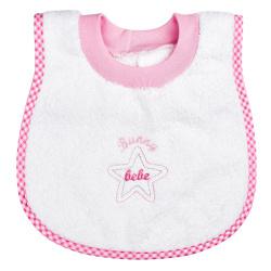 """Bunny bebe σαλιάρα πετσετέ """"ποδίτσα""""αστεράκι ροζ"""