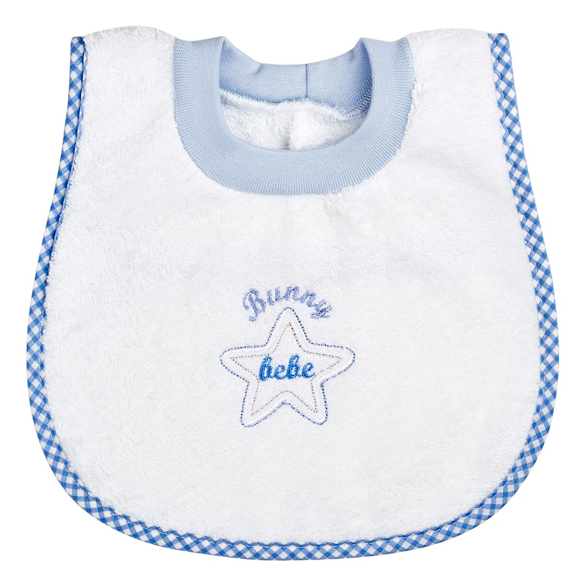 "Bunny bebe σαλιάρα πετσετέ ""ποδίτσα"" αστεράκι μπλε"