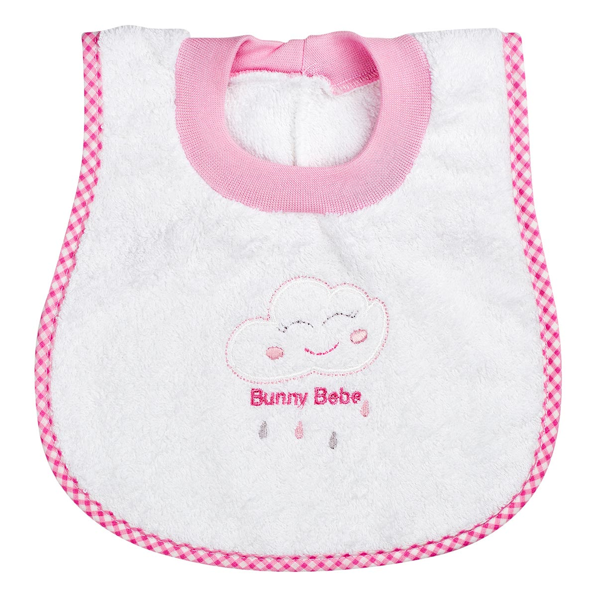 "Bunny bebe σαλιάρα πετσετέ ""ποδίτσα"" συννεφάκι ροζ"