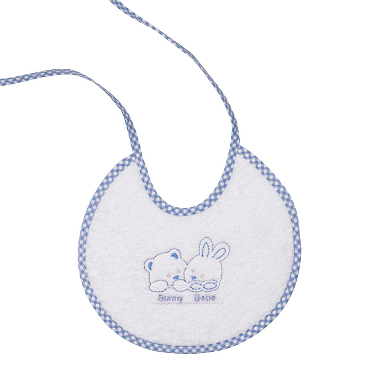 Bunny bebe σαλιάρα πετσετέ με ρέλι αρκουδάκια μπλε