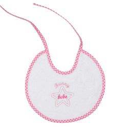Bunny bebe σαλιάρα πετσετέ με ρέλι αστεράκι ροζ