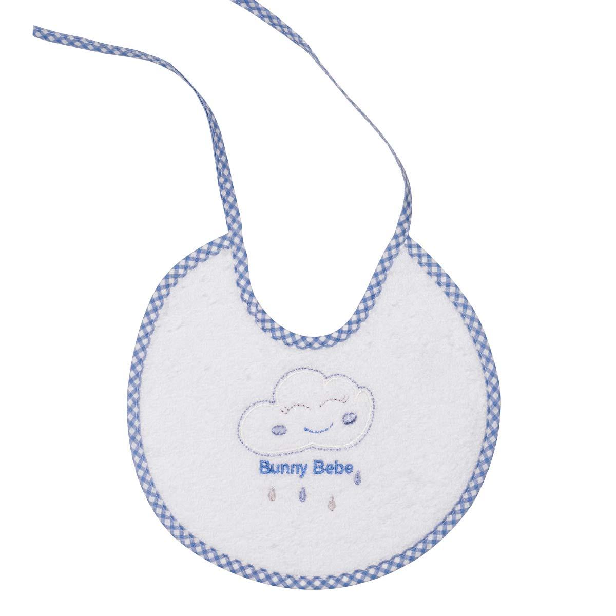 Bunny bebe σαλιάρα πετσετέ με ρέλι σύννεφο μπλε