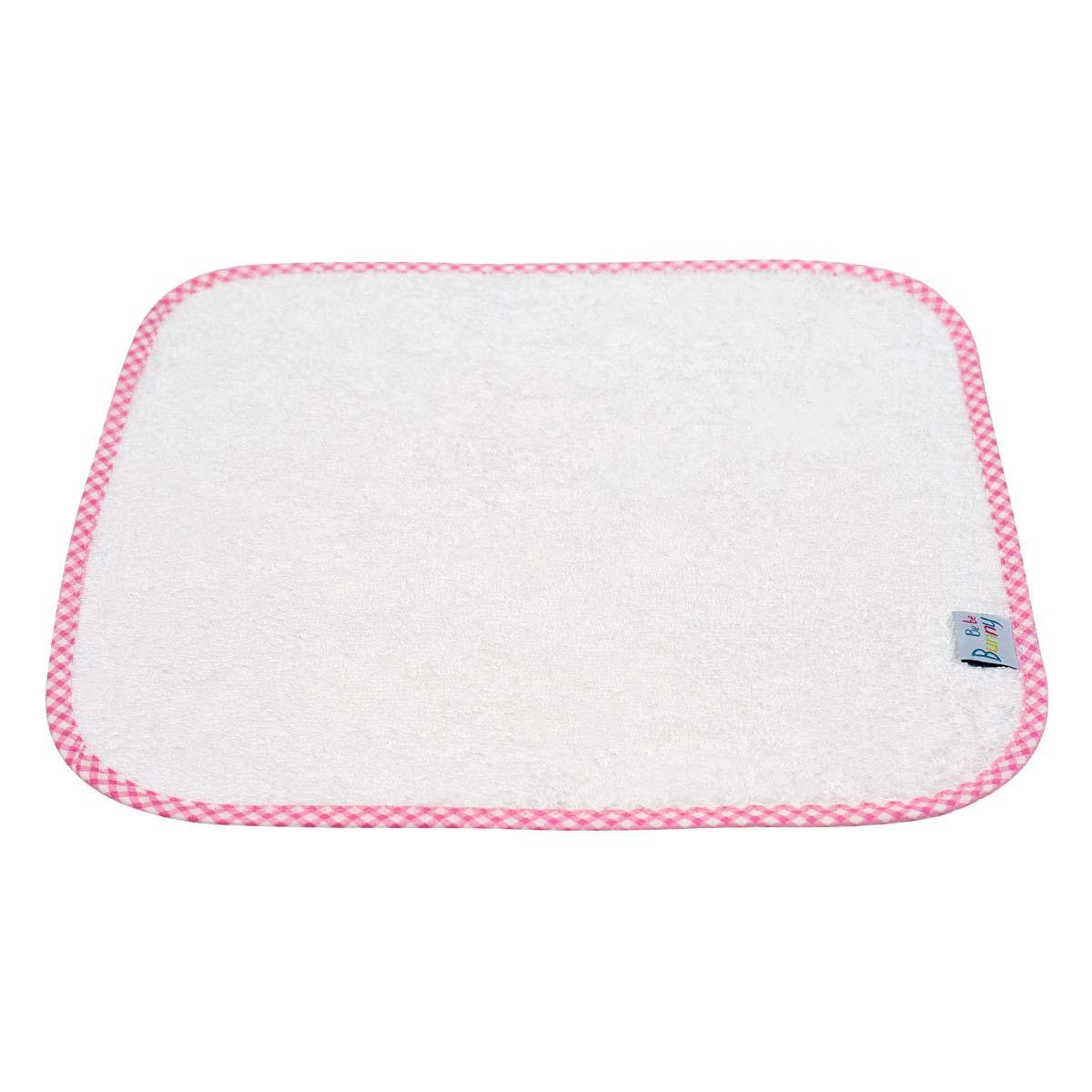 Bunny bebe λαβέτα πετσετέ με ρέλι ροζ καρό