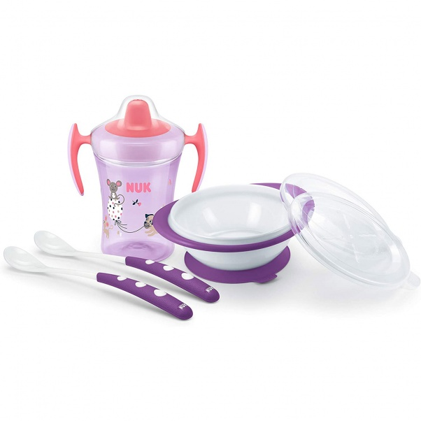NUK Learn to Eat Set 4 Count Pink