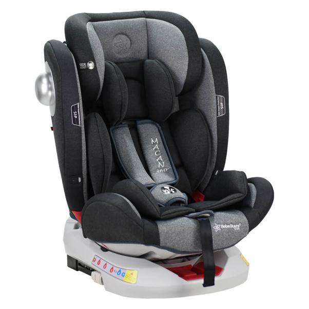 Κάθισμα αυτοκινήτου Bebe Stars Isofix Macan 360° Grey