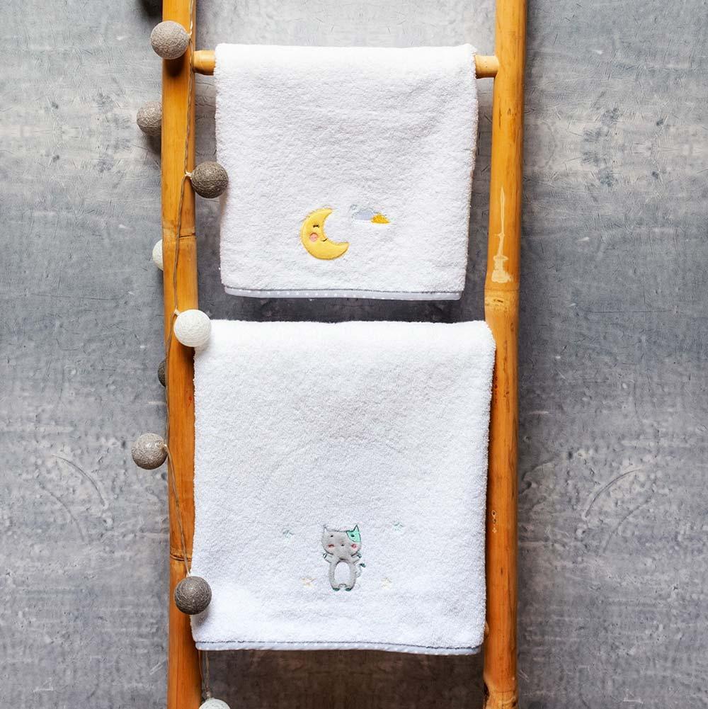 Abo Σετ πετσέτες 2 ΤΜΧ  CAT CLOUDS