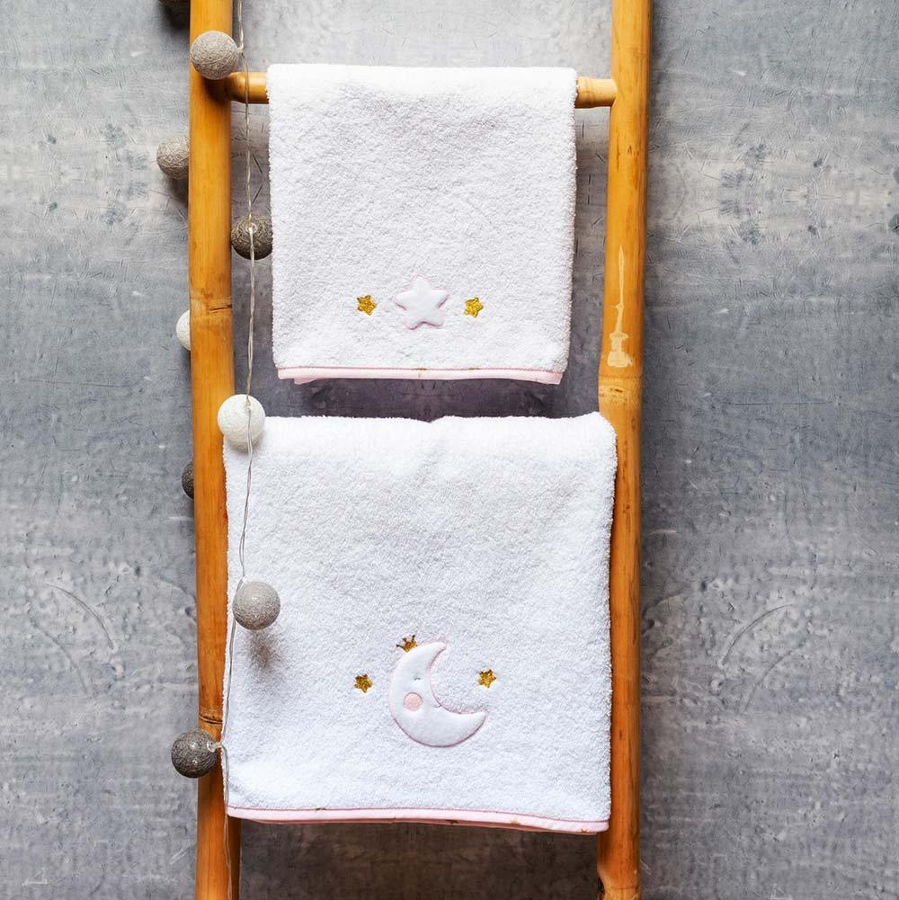 Abo Σετ πετσέτες 2 ΤΜΧ  MOON PRINCESS
