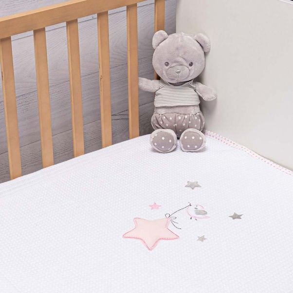 Abo Πικέ κουβέρτα 100x150 cm Star Birds
