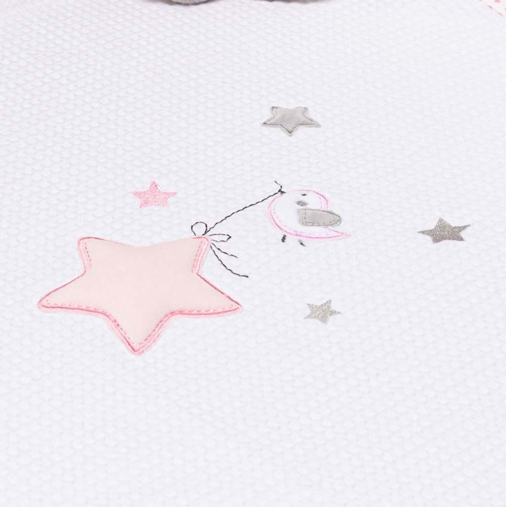 Abo Πικέ κουβέρτα 100*150 STAR BIRDS