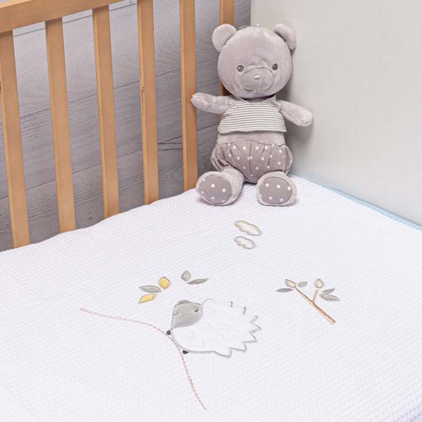 Abo Πικέ κουβέρτα 100 x 150 cm Hedgehog