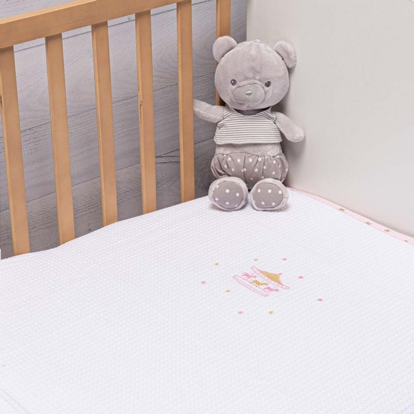 Abo Πικέ κουβέρτα 100x150 cm Carousel Pink