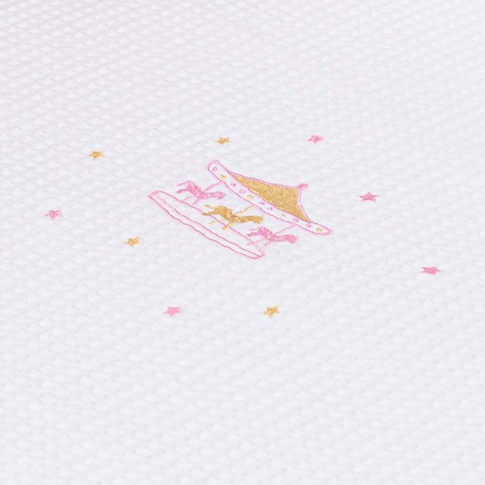Abo Πικέ κουβέρτα 100*150 CAROUSEL PINK