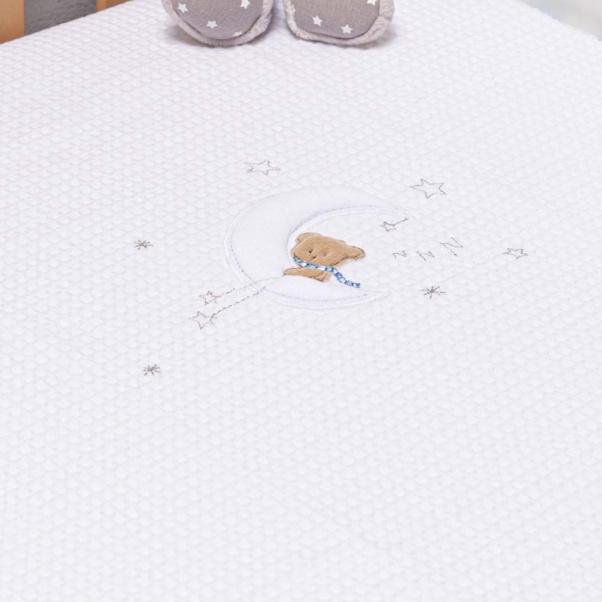 Abo Πικέ κουβέρτα 100x150 cm Moon Bear