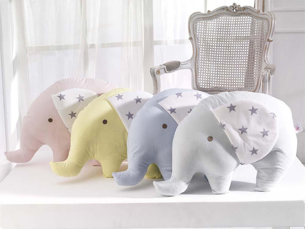 Abo Διακοσμητικά Μαξιλάρια Ελεφαντάκια σε 4 Χρώματα