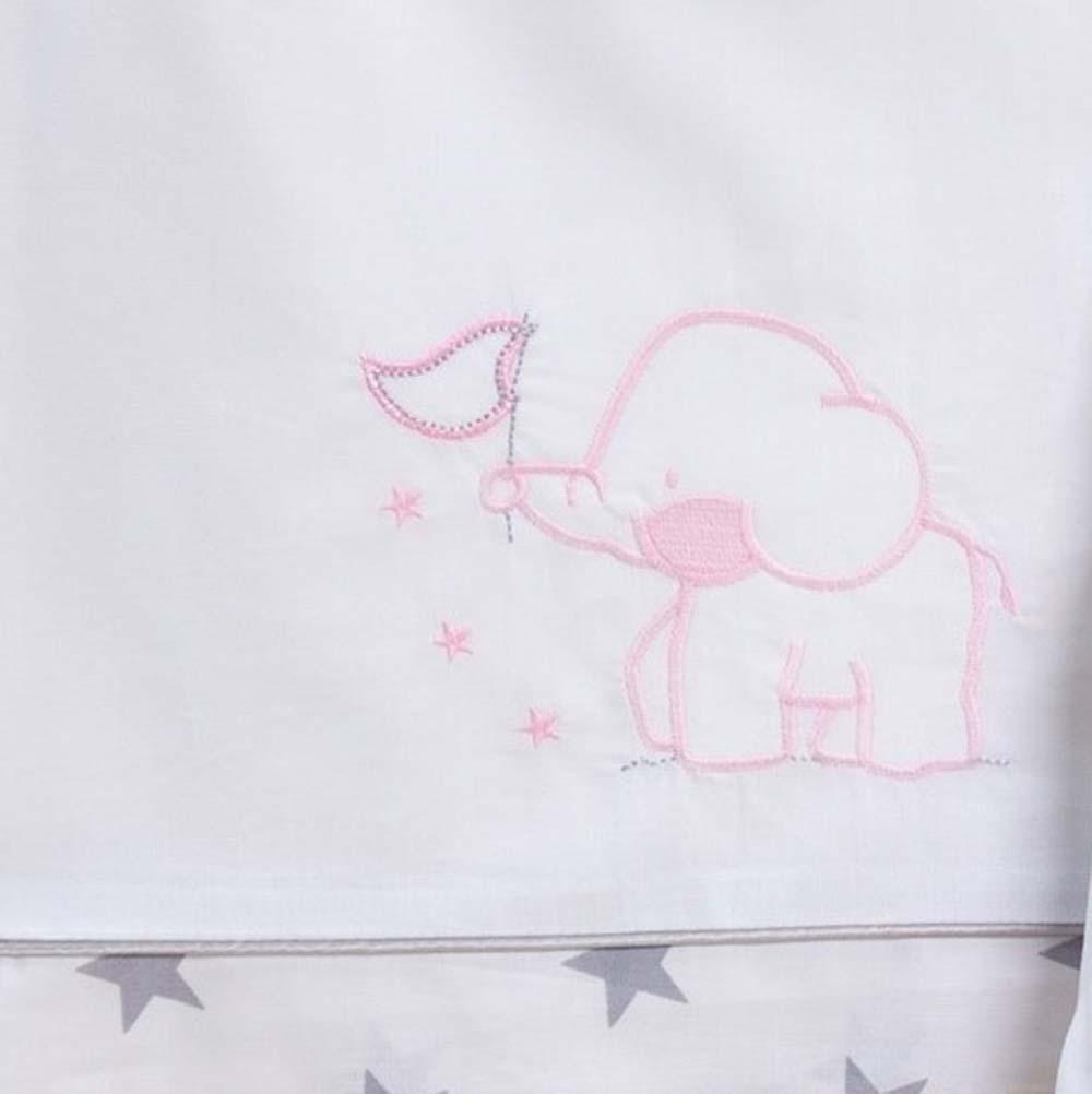 Abo Σετ σεντόνια 3τμχ 70*140 elephant ροζ