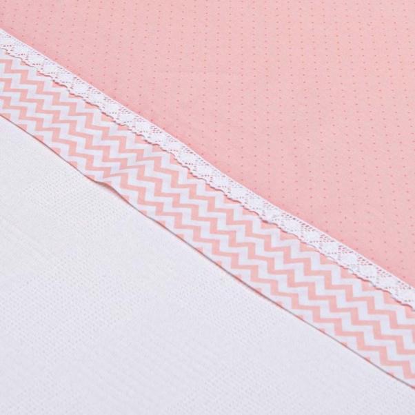 Abo Πικέ κουβέρτα 100x150 cm Carrot ροζ