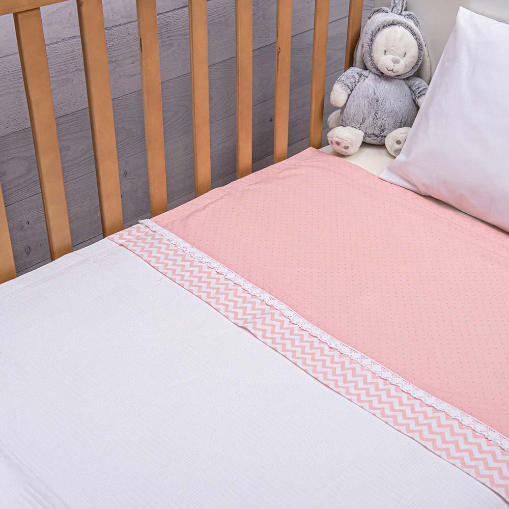 Abo Πικέ κουβέρτα 100*150 Fairytale ροζ