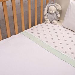 Abo Πικέ κουβέρτα 100x150 cm elephant Μέντα