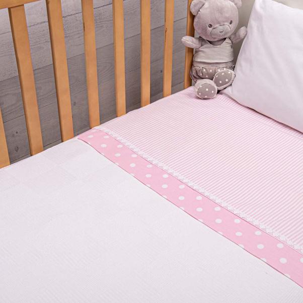 Abo Πικέ κουβέρτα 100x150 cm carousel Σιέλ
