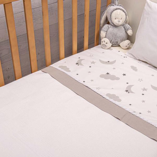 Abo Πικέ κουβέρτα 100x150 cm Moon