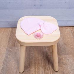 Abo Σετ γαντάκια - σκουφάκι ροζ