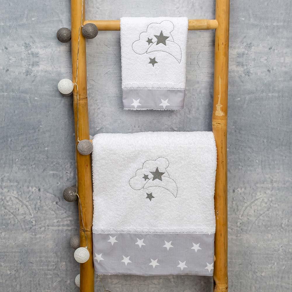 Abo Σετ πετσέτες 2 ΤΜΧ moon grey