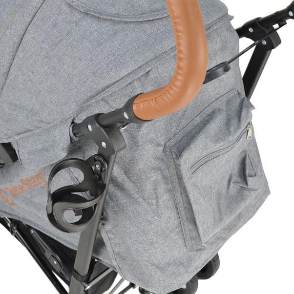 Bebe Stars Baby Stroller Adam Grey 186-186