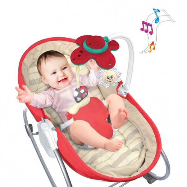 Bebe Stars Baby Bouncer & Swing Snooze 3 in 1 Red 324-180