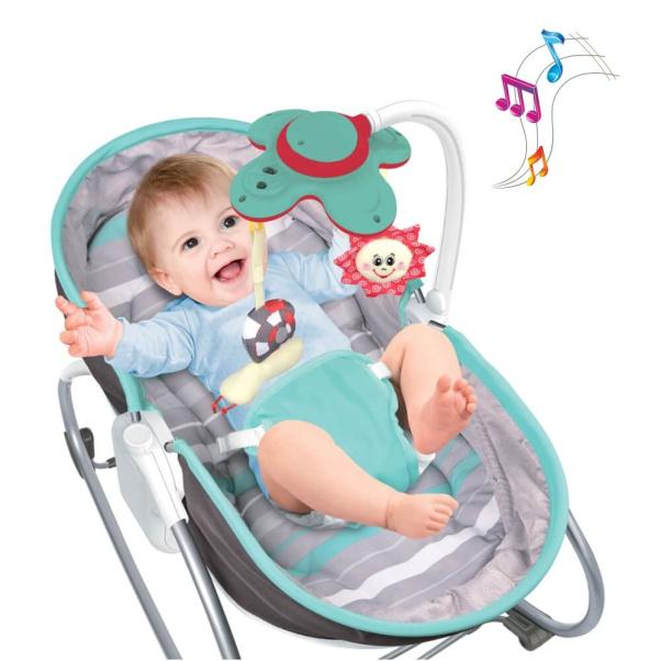 Bebe Stars Baby Bouncer & Swing Snooze 3 in 1 Grey 324-186