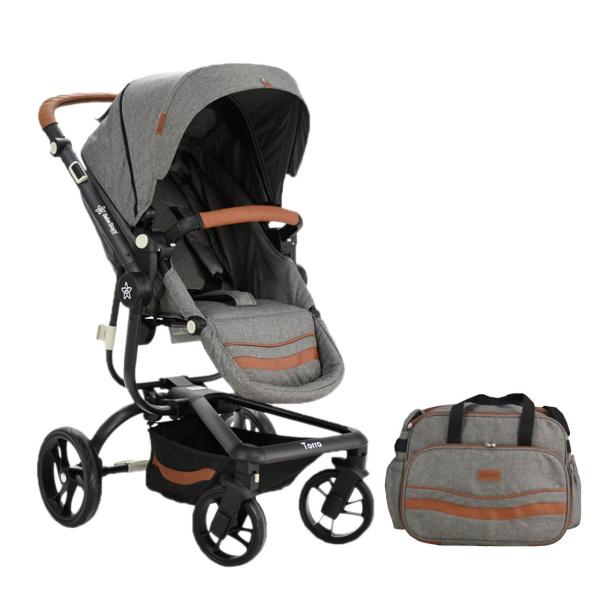Bebe Stars Baby Stroller Aluminium Torro Grey 360-188