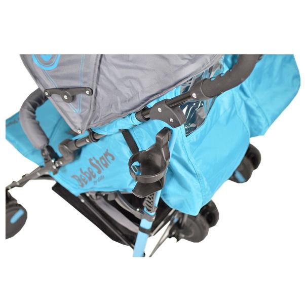 Bebe Stars Baby Stroller Twin Lux Blue 7801-181