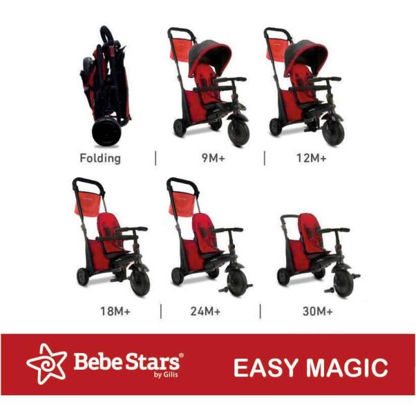 Bebe Stars Tricycle Easy Magic Blue 360° 810-181