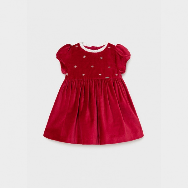 Mayoral Φόρεμα βελούδο Baby κορίτσι 02912-11