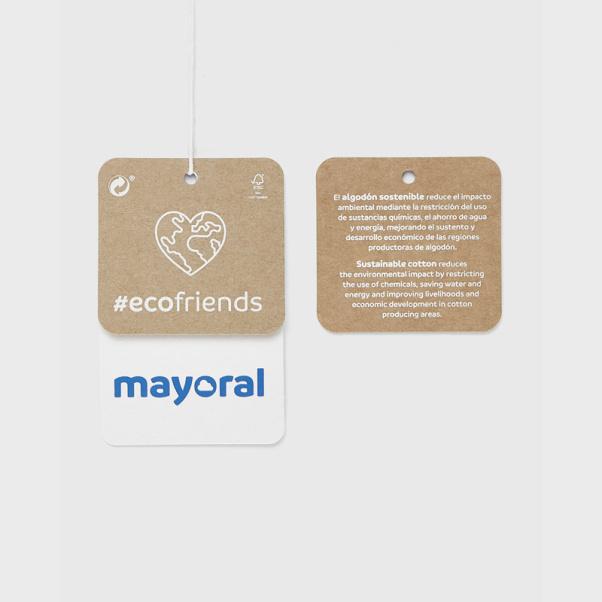 Mayoral Φόρεμα φούτερ Ecofriends κούκλα Baby κορίτσι 02913-14