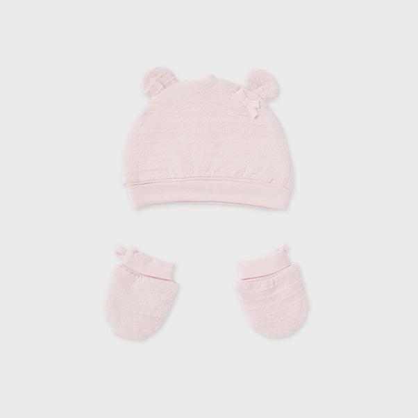 Σετ σκούφος και γάντια ροζ μπεμπε Mayoral 19916-37