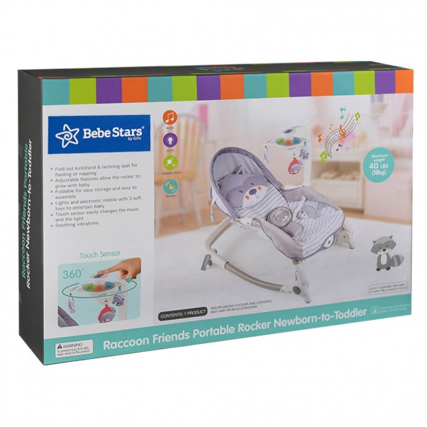 Bebe Stars Baby Bouncer Raccoon 314-186