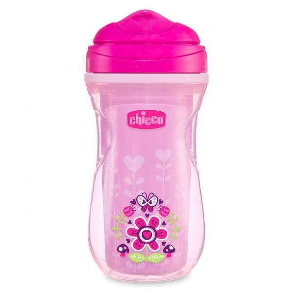 Chicco Insulated Rim Trainer Cup 9oz 12m+ (2pk) in Pink