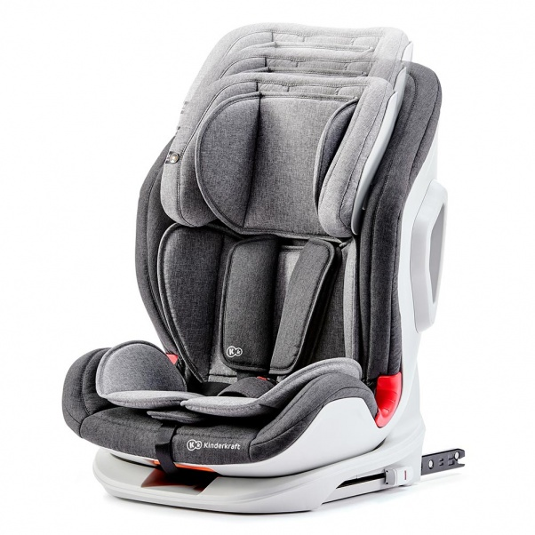 Kinderkraft παιδικό κάθισμα αυτοκινήτου Oneto3 Isofix Black Grey 9-36Kg
